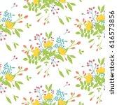 bright summer bouquet of... | Shutterstock .eps vector #616573856
