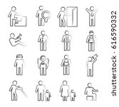 hand drawn people icons | Shutterstock .eps vector #616590332