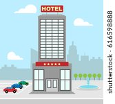 hotel vacation building shows...   Shutterstock . vector #616598888