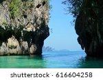 beautiful ocean with wonder of... | Shutterstock . vector #616604258