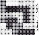 halftone seamless square...   Shutterstock .eps vector #616607966