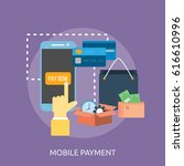 mobile payment conceptual design | Shutterstock .eps vector #616610996