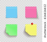 set of colorful sticky notes... | Shutterstock .eps vector #616616612