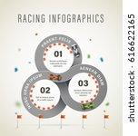 vector realistic racetrack... | Shutterstock .eps vector #616622165