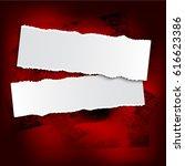brushstroke and paper on a... | Shutterstock .eps vector #616623386