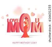 elegant greeting card design... | Shutterstock .eps vector #616631255