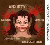 social awareness concept poster ...   Shutterstock .eps vector #616636286