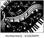 music theme | Shutterstock .eps vector #61663699