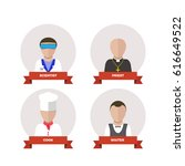 professions people.flat design | Shutterstock . vector #616649522