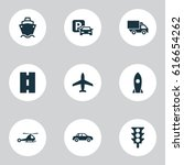 shipment icons set. collection... | Shutterstock .eps vector #616654262