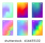 collection of six modern... | Shutterstock .eps vector #616655132