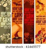 halloween banner set   Shutterstock .eps vector #61665577
