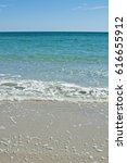 beautiful white beach. soft...   Shutterstock . vector #616655912