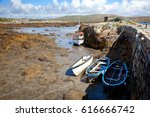 aground fishing boats in... | Shutterstock . vector #616666742