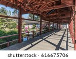 japanese inspired structure on... | Shutterstock . vector #616675706
