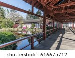 japanese inspired structure on... | Shutterstock . vector #616675712