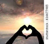 concept or conceptual heart... | Shutterstock . vector #616677485