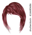 trendy  woman  hairs kare with... | Shutterstock .eps vector #616680686