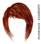 trendy  woman  hairs kare with... | Shutterstock .eps vector #616680695