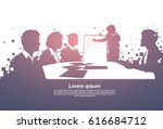 silhouette business people team ... | Shutterstock .eps vector #616684712
