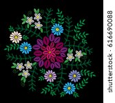 embroidery stitches imitation... | Shutterstock .eps vector #616690088