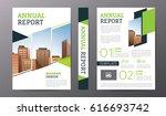 business brochure or flyer... | Shutterstock .eps vector #616693742