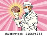 surgeon doctor and the human... | Shutterstock .eps vector #616696955