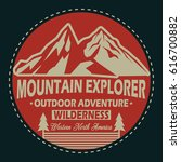 mountain explorer  outdoor... | Shutterstock .eps vector #616700882