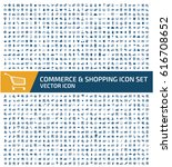 commerce and shopping icon set... | Shutterstock .eps vector #616708652