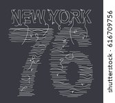 new york typography with a... | Shutterstock .eps vector #616709756