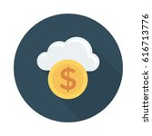 cloud currency | Shutterstock .eps vector #616713776