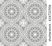 seamless floral pattern motif... | Shutterstock .eps vector #616722506