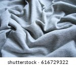 texture of fabric. gray cotton... | Shutterstock . vector #616729322