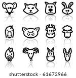 domestic animals set  vector...