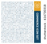 commerce icon set clean vector | Shutterstock .eps vector #616730318