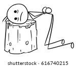 cartoon vector stick man men... | Shutterstock .eps vector #616740215