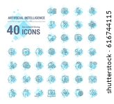 vector graphic set. icons in... | Shutterstock .eps vector #616744115