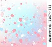 cherry blossom background | Shutterstock .eps vector #616744985