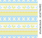 ethnic seamless patterns ... | Shutterstock .eps vector #616746482