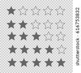 hotel star rating. star... | Shutterstock .eps vector #616753832