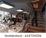 3d interior rendering   ... | Shutterstock . vector #616754336