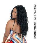 a gorgeous african american... | Shutterstock . vector #616760552