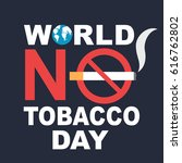world no tobacco day banner | Shutterstock .eps vector #616762802