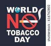 world no tobacco day banner   Shutterstock .eps vector #616762802