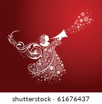 christmas angels. all elements... | Shutterstock .eps vector #61676437
