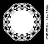lace round paper doily  lacy... | Shutterstock .eps vector #616765802
