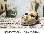 mask from venice with a... | Shutterstock . vector #616765868