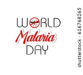 world malaria day | Shutterstock .eps vector #616768265
