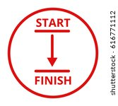 start and finish line vector...