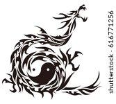 tribal dragon | Shutterstock .eps vector #616771256